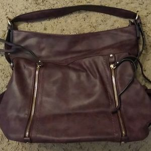 Burgundy hobo purse